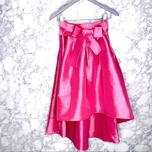 TOUCH ME | Bubblegum Pink High Low Formal Skirt
